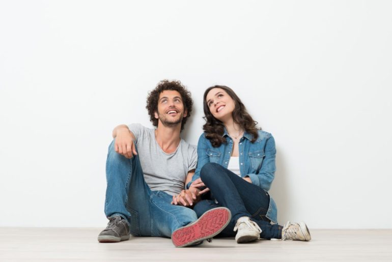 Man and woman sitting