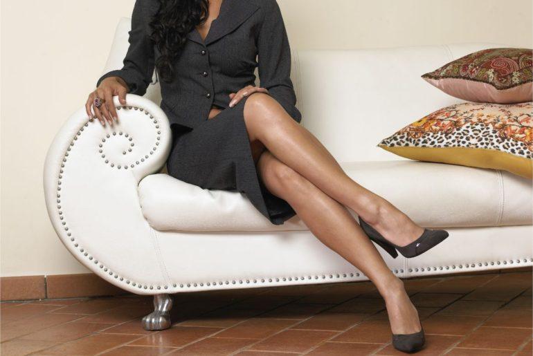 Woman crossing legs